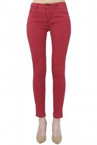 Pantaloni slim fit cu talie inalta William de Faye WF150 Rosu