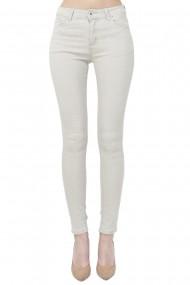 Pantaloni slim fit cu talie inalta William de Faye WF151 Bej