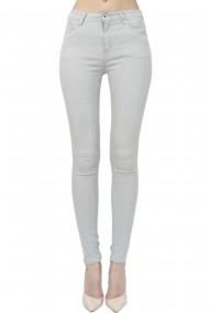 Pantaloni slim fit cu talie inalta William de Faye WF152 Gri