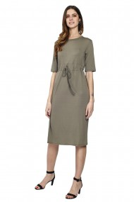 Rochie William de Faye WF161 Gri-bej