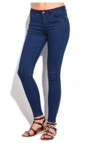 Pantaloni slim fit cu talie inalta William de Faye WF48 Bleumarin