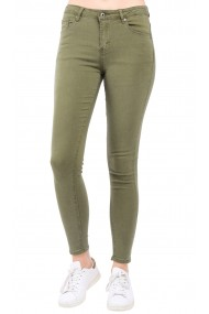 Pantaloni slim fit cu talie inalta William de Faye WF52 Kaki