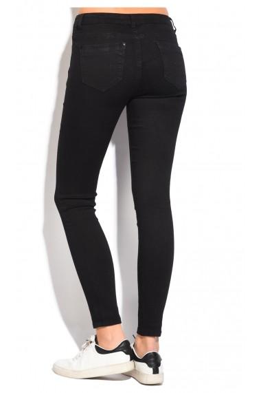 Pantaloni slim fit cu talie inalta William de Faye WF55 Negru
