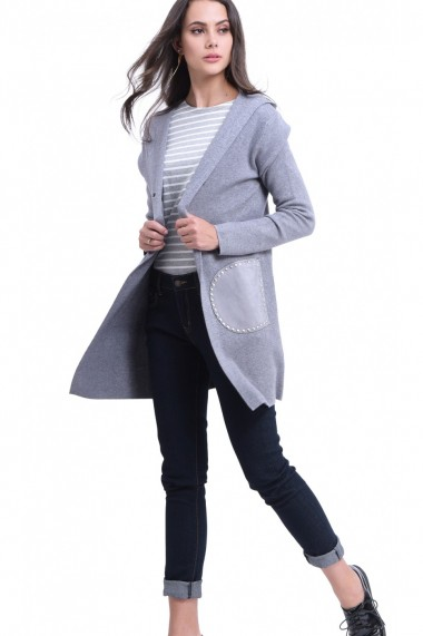 Cardigan William de Faye WF718 Gri