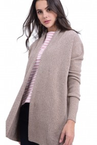 Cardigan William de Faye WF720 Gri-Bej