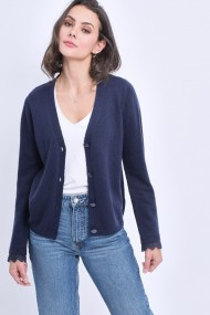 Cardigan William de Faye WF736 Bleumarin