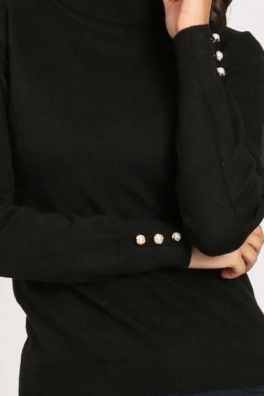Pulover din casmir William de Faye WF893 negru