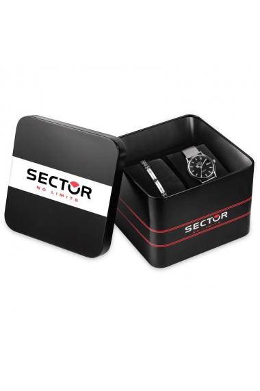 Set ceas + bratara Sector, R3253517025, inox