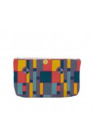 Portofel tip Pouch Handmade Original Mulewear Geometric Abstract Desen Color Copii Child Mumble Multicolor Big 38x23 cm