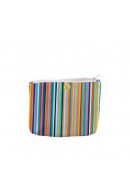 Portofel tip Pouch Handmade Original Mulewear Abstract Dungi Usoare Easy Stripes Multicolor Medium 22x19 cm