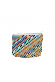 Portofel tip Pouch Handmade Original Mulewear Abstract Magia Culorilor Stripey Magic Multicolor Medium 22x19 cm