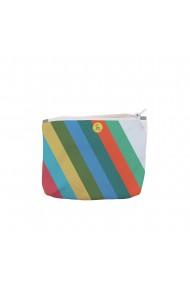 Portofel tip Pouch Handmade Original Mulewear Abstract Avalansa de Culori Color Avalanche Multicolor Medium 22x19 cm