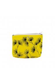 Portofel tip Pouch Handmade Original Mulewear Botanic Flori Abundenta Galbena Golden Bliss Multicolor Medium 22x19 cm