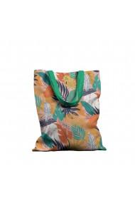 Geanta Handmade Tote Basic Botanic Plante Frunze de Toamna Multicolor 43x37 cm