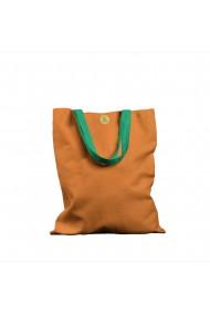 Geanta Handmade Tote Basic Mulewear Portocaliu Amurg 43x37 cm
