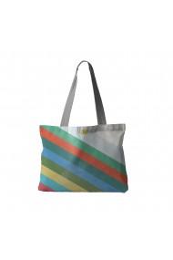 Geanta Handmade Tote Bag Fatty Original Mulewear Abstract Avalansa de Culori Color Avalanche Multicolor 37x45 cm