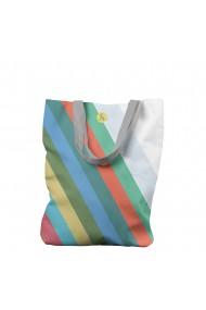 Geanta Handmade Tote Bag Liner Original Mulewear Abstract Avalansa de Culori Color Avalanche Multicolor 45x37 cm