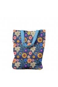 Geanta Handmade Tote Liner Captusit Mulewear Botanic Camp cu Floarea Soarelui Multicolor 45x37 cm