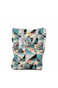 Geanta Handmade Tote Bag Liner Captusit Original Mulewear Geometric Abstract Matematica Childhood Math Multicolor 45x37 cm