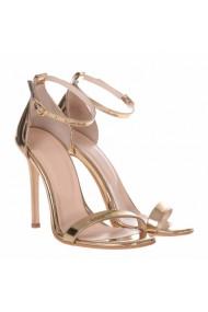 Sandale cu toc Mamzelle Clara Auriu