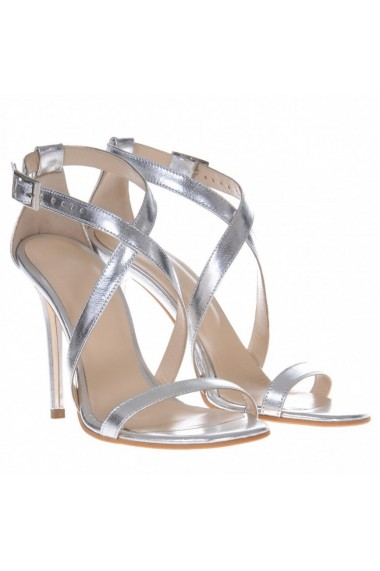 Sandale cu toc Mamzelle Sandra Argintiu