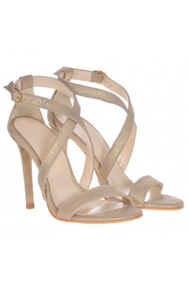 Sandale cu toc Mamzelle Sandra Auriu