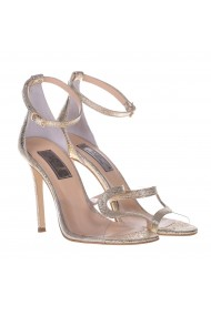 Sandale cu toc Mamzelle Annabelle Aurii