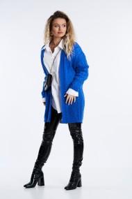 Cardigan Mobiente din tricot Albastru electric