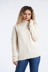 Pulover din tricot Mobiente Crem