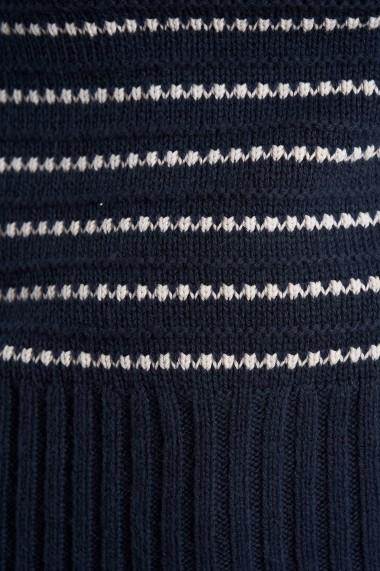 Pulover Mobiente din tricot Bleumarin