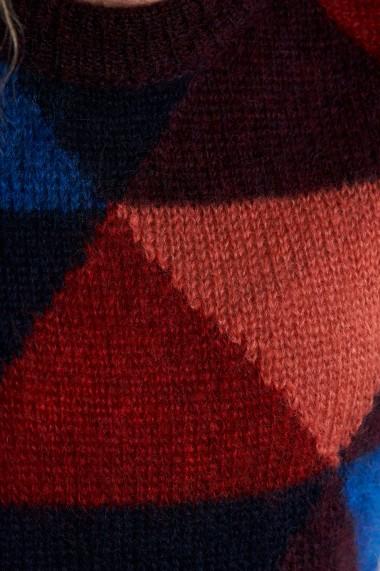 Pulover Mobiente din tricot Multicolor
