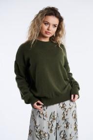 Pulover din tricot Mobiente Verde olive