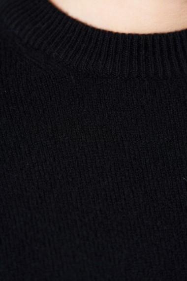 Pulover din tricot Mobiente Negru
