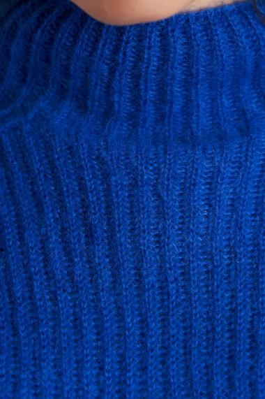 Rochie din tricot Mobiente Albastru electric