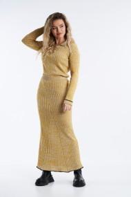 Fusta tricotata midi Mobiente Galbena