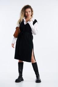 Rochie tricotata cu croi drept Mobiente Neagra