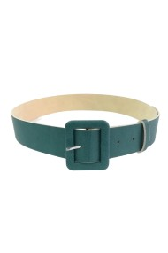 Curea Mabotex piele sintetica verde cu catarama imbracata verde 4cm