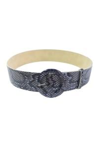 Curea Mabotex piele sintetica snake print mov cu catarama imbracata 5cm