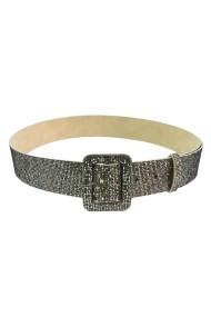Curea Mabotex glitter auriu cu catarama imbracata 4cm
