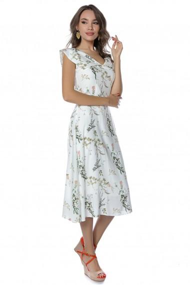 Rochie midi Noria Anis Midsummer cu print floral