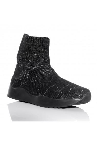 Pantofi NISSA sport din tesatura impletita Negru