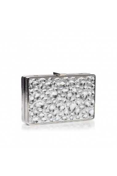 Clutch NISSA cu pietre de sticla Argintiu