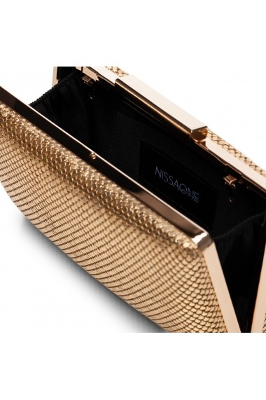 Clutch NISSA auriu cu aplicatii metalice Auriu