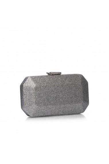 Clutch NISSA hexagonal stralucitor Argintiu