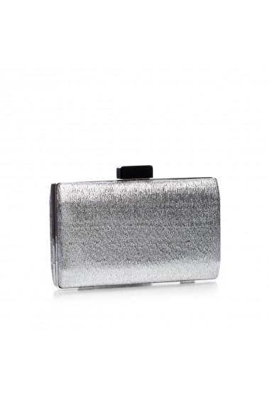 Clutch NISSA cu inchizatoare in contrast Argintiu