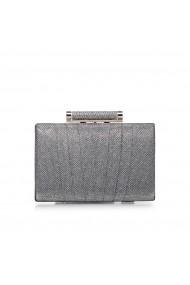 Clutch NISSA elegant stralucitor Argintiu