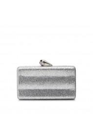 Plic NISSA stralucitor cu detalii geometrice Argintiu