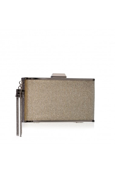 Clutch NISSA cu accesoriu metalic Auriu