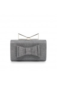 Clutch NISSA stylish cu detalii tip funda Argintiu
