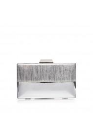Clutch NISSA cu detalii contrastante Argintiu